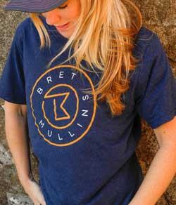Bret Mullins Band BRAND Blue T-shirt